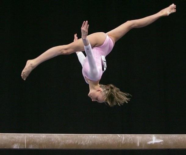 Beam gymnastics skills