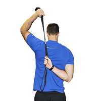 Rotator Cuff Stretching With Athletic Stretching Strap from Myosource Kinetic Bands