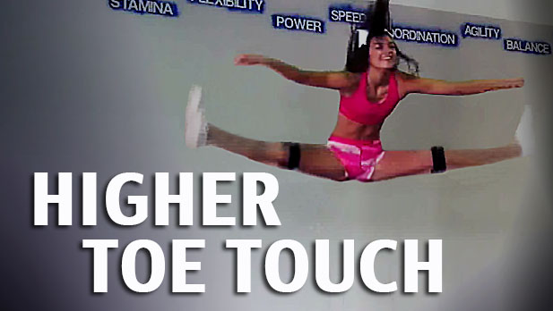 Higher Toe Touch With Kinetic Bands